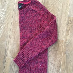 H&M red multicolor sweater